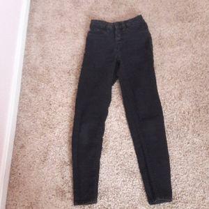 Black denim jeans from Walmart